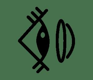 olho e lente contacto